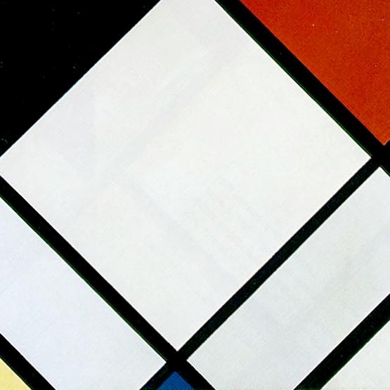 2938d4262e478 Muzéo, Edition d'art et de photo | Composition en losange rouge, noir, bleu  et jaune de Piet Mondrian