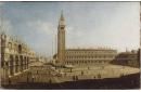 Vue de la place San Marco à Venise, de la piazzetta et de l'église San Giorgio