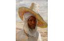 Arabe au grand chapeau