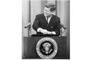 Le président John F. Kennedy en août 1962