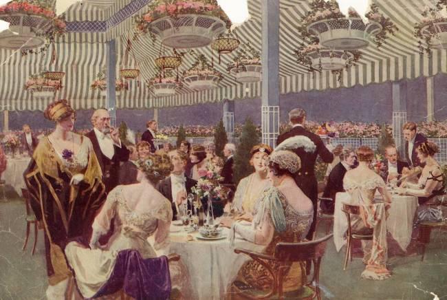 Diner Sur La Terrasse Du Toit De L Hotel Le Ritz Carlton A New York