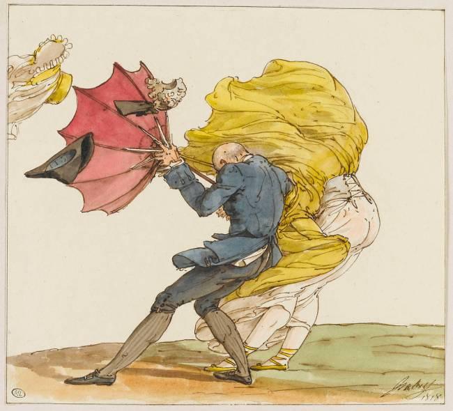 Le coup de vent, caricature