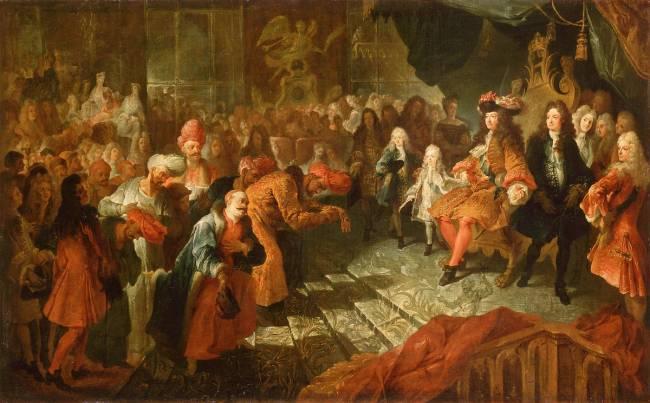 Louis Xiv Recoit Dans La Galerie Des Glaces De Versailles De Antoine Coypel Reproduction D Art Haut De Gamme