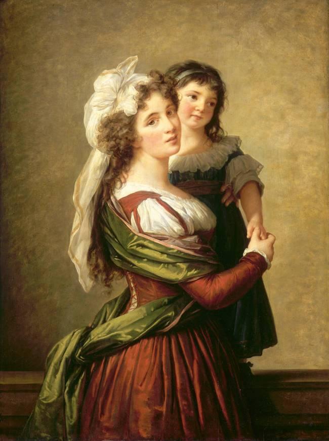 Madame Rousseau et sa fille de Elisabeth Vigée Le Brun - Reproduction d'art  haut de gamme