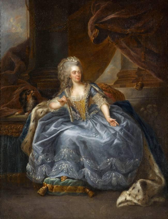 Marie-Adélaïde de France, fille de Louis XV, dite Madame Adélaïde  (1732-1800), représentée en 1788 de Johann Julius Heinsius - Reproduction  d'art haut de gamme