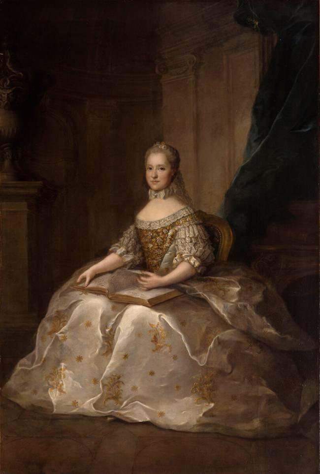 Marie-Josèphe de Saxe, Dauphine de France (1731-1767) de Anne Baptiste  Nivelon - Reproduction d'art haut de gamme