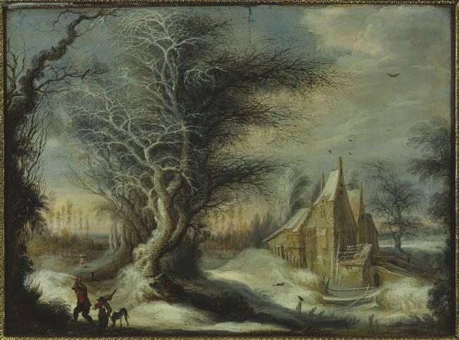 Paysage d 39 hiver au b cheron de lytens gysbrecht dit aussi for Maitre d oeuvre en anglais