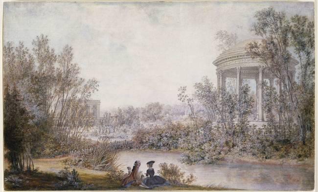 Vue Du Temple De L Amour Dans Le Jardin Anglais Du Petit Trianon De