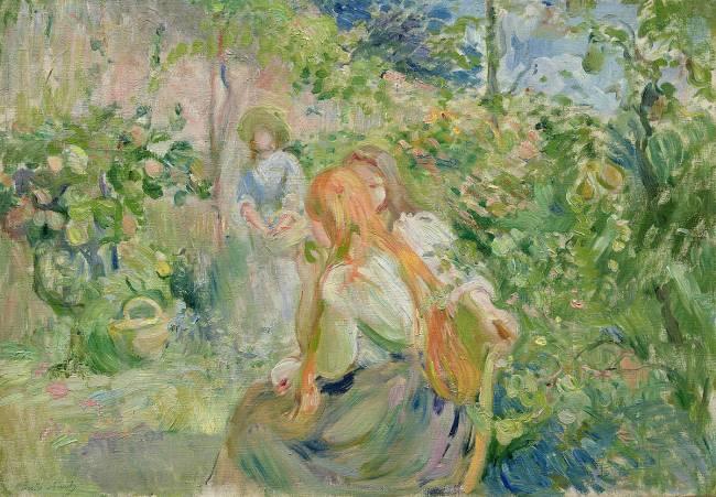 Au Jardin De Roche Plate De Berthe Morisot Reproduction D Art Haut De Gamme