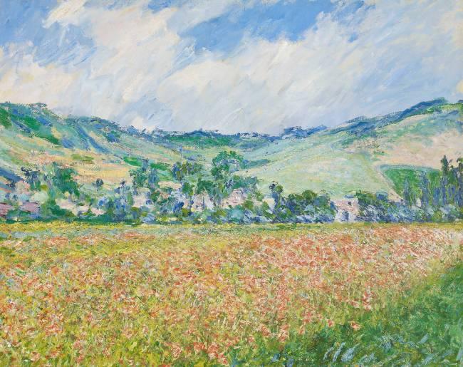 Le champ des coquelicots (environs de Giverny). de Claude Monet ...