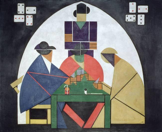 Les Joueurs De Carte Theo Van Doesburg