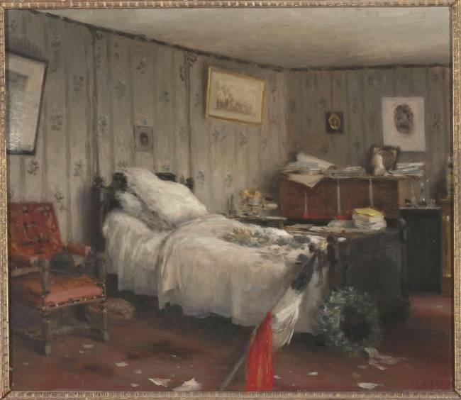 Chambre mortuaire de l on gambetta dans sa villa des - Chambre des independants du patrimoine ...