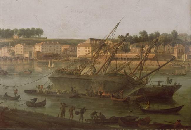 Deuxi me vue du port de bayonne prise de l 39 all e de - Peinture bayonne ...