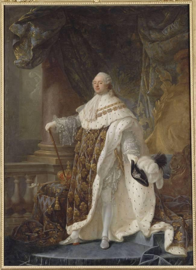 Portrait de Louis XVI en costume de sacre de Antoine-François Callet ...