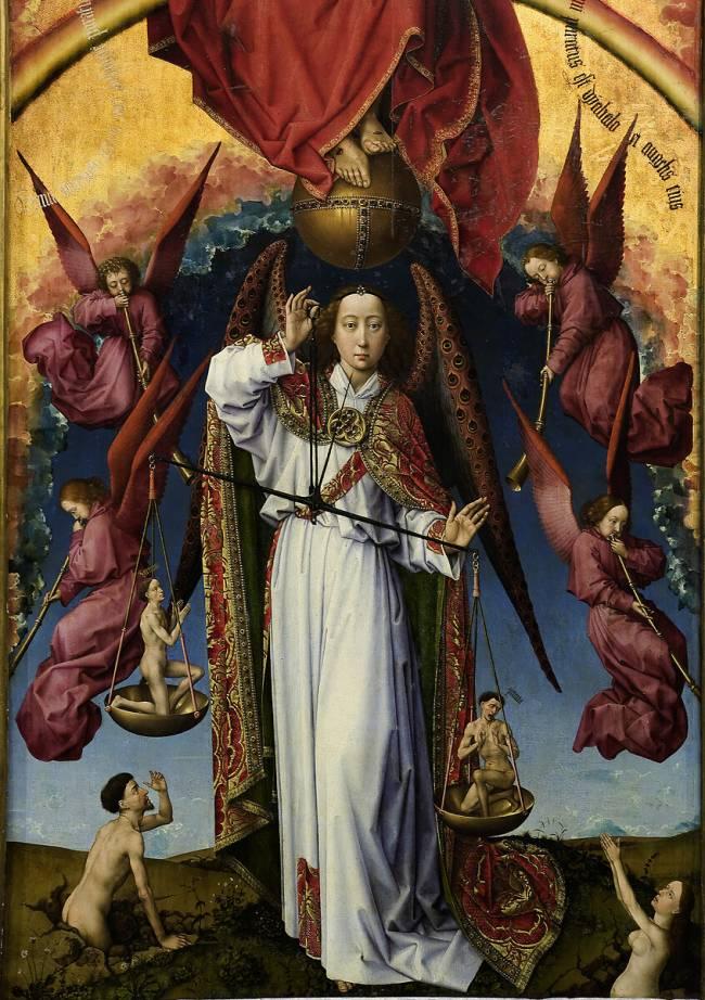 La littérature chrétienne au Moyen-Âge – Anglo-Saxonne – Allemagne – France (extraits et images) Retable_du_jugement_dernier138308