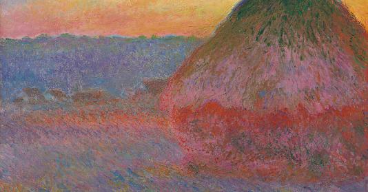 Datant d'un coucher du soleil impressionniste