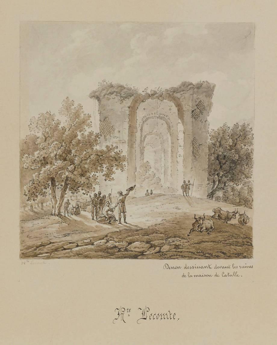 Maison En Ruine Dessin denon dessinant les ruines de la maison de catulle