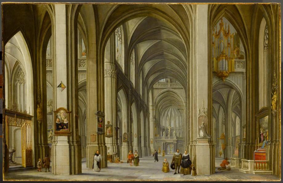 Int rieur d 39 glise avec famille au premier plan de van steenwyck hendrick le jeune - Van plan interieur ...