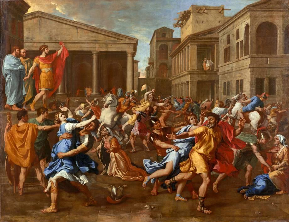 Souvent L'enlèvement des Sabines de Poussin Nicolas - Reproduction d'art  UI61