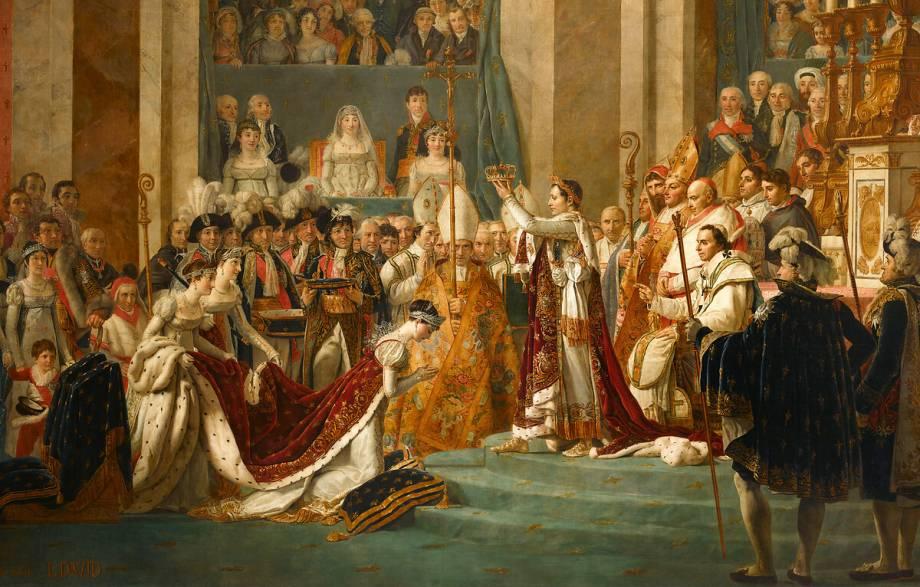 Sacre de l'empereur Napoléon et couronnement de l'impératrice Joséphine de  Jacques Louis David - Reproduction d'art haut de gamme
