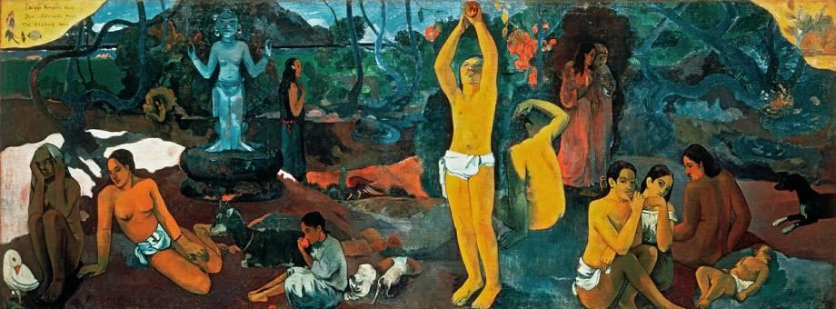 D'ou venons-nous? Que sommes-nous? Ou allons nous ? de Paul Gauguin -  Reproduction d'art haut de gamme