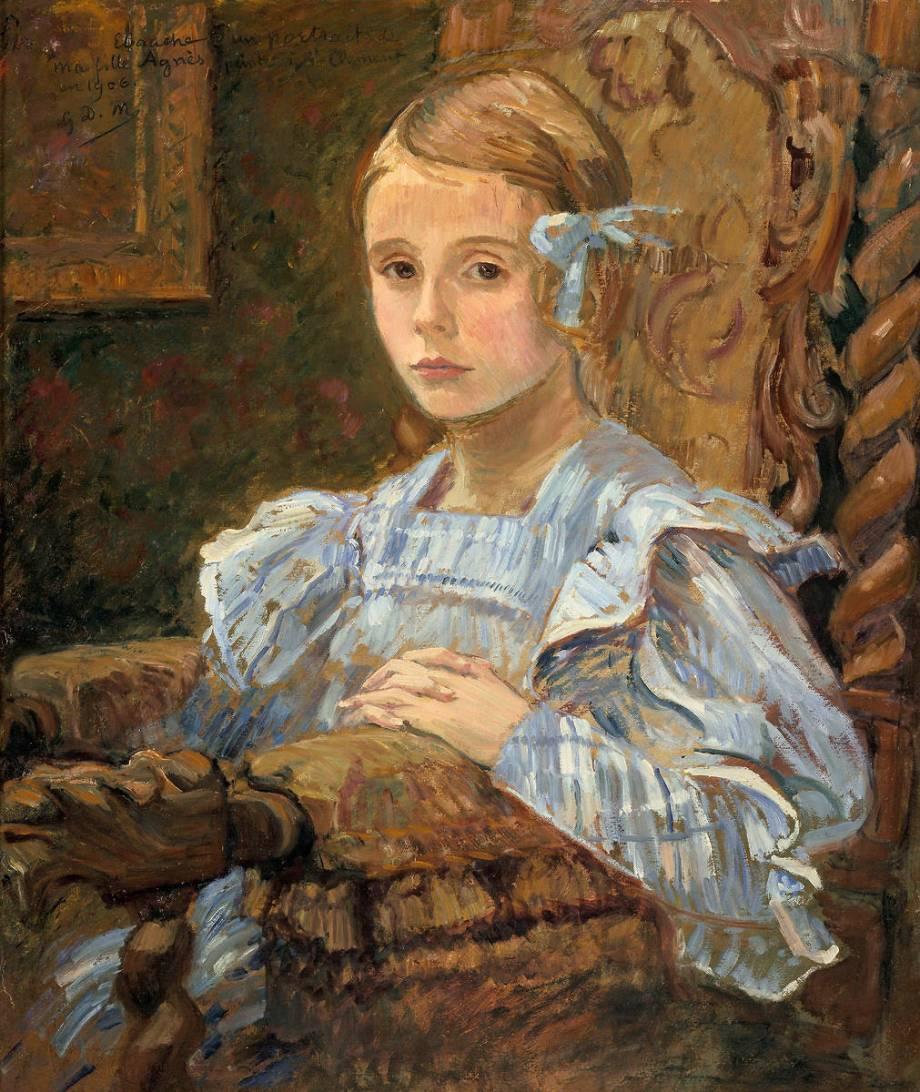 Portrait de la fille de l'artiste, dit l'Infante de George-Daniel de  Monfreid - Reproduction d'art haut de gamme