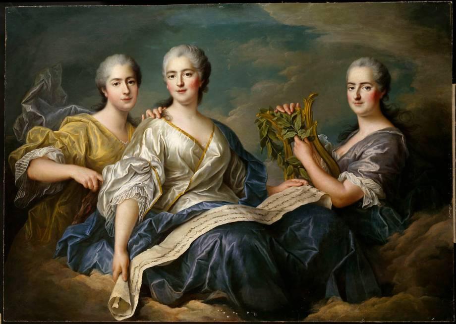 Mesdames Victoire, Sophie et Louise de François-Hubert Drouais -  Reproduction d'art haut de gamme