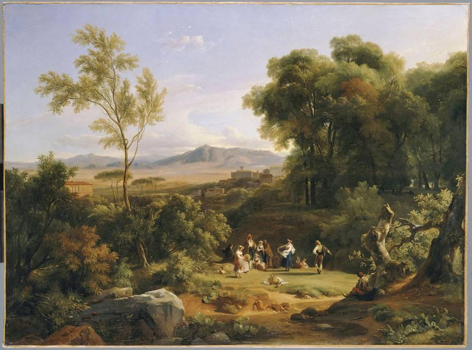 paysage inspir de la vue de frascati de michallon achille