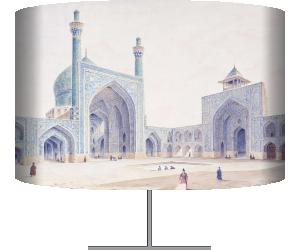 Orientalisme : vue de l'intérieur de la cour de la Grande Mosquee d'Ispahan, Voyage en Perse - Ispahan (Pascal Coste) - Muzeo.com