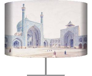 Orientalisme : vue de l'intérieur de la cour de la Grande Mosquee d'Ispahan, Voyage en Perse - Ispahan (Coste Pascal) - Muzeo.com
