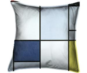 Tableau 1, rouge, noir, bleu et jaune (Mondrian Piet) - Muzeo.com