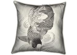 Kouanon, la déesse de la grâce, sur un poisson (Hokusai) - Muzeo.com