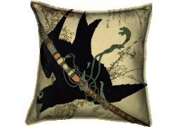 Petit corbeau et épée du clan Minamoto (Hokusai) - Muzeo.com
