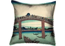 Sous le pont de Mannen à Fukagawa (Hokusai) - Muzeo.com