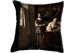 Femme écrivant une lettre et sa servante (Johannes Vermeer) - Muzeo.com