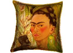 Autoportrait avec singe et perroquet (Frida Kahlo) - Muzeo.com