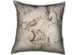 Combat entre cinq cavaliers et des dragons (Jacopo Bellini) - Muzeo.com