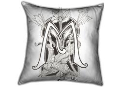 Lettre M ornée de motifs végétaux (Anonyme) - Muzeo.com