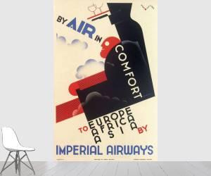Affiche Imperial Airways, par Air in Comfort, en Europe, Afrique, Asie (anonyme) - Muzeo.com