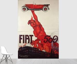 Affiche pour la Fiat 509 (Plinio Codognato) - Muzeo.com