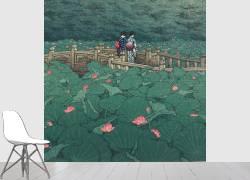 L'Etang Benten à Shiba, Août 1929 (Hasui Kawase) - Muzeo.com
