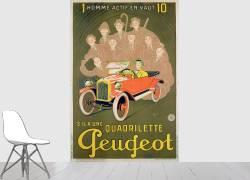 Publicité pour la Peugeot Quadrilette (Liebeaux Michel) - Muzeo.com