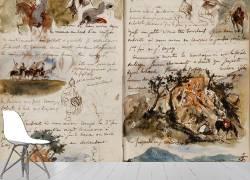 Cavaliers arabes, notes manuscrites (Eugène Delacroix) - Muzeo.com