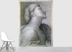 Profil de visage dans le style de Raphaël (Ingres Jean-Auguste-Dominique) - Muzeo.com