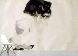 Nue accroupie (Egon Schiele) - Muzeo.com