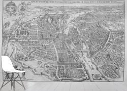 Fac-similé d'un plan de Paris en 1615 (anonyme) - Muzeo.com