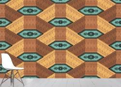 Motif répétitif d'ornements géométriques (Anonyme) - Muzeo.com