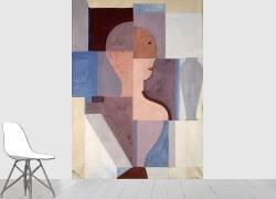 Moitié droite d'un visage (Oskar Schlemmer) - Muzeo.com