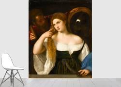 Portrait d'une femme à sa toilette (Titien) - Muzeo.com