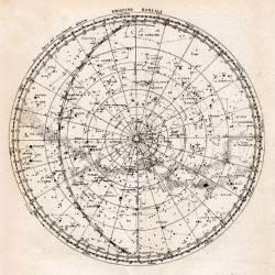 Carte du ciel, hémisphère boréal (Camille Flammarion) - Muzeo.com